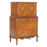 Johnson Furniture Louis XVI Marquetry Gentleman's Chest, Mid to Late 20th C.