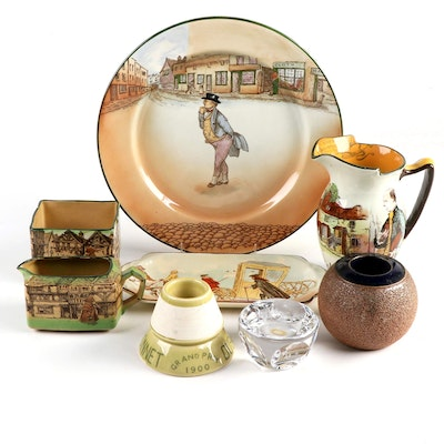 """Royal Doulton """"Mr. Pickwick"""" Plate with Other Table Accessories"""