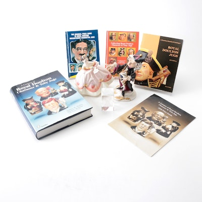 """Royal Doulton """"Elizabeth"""" Figurine with Collector's Guides and More"""