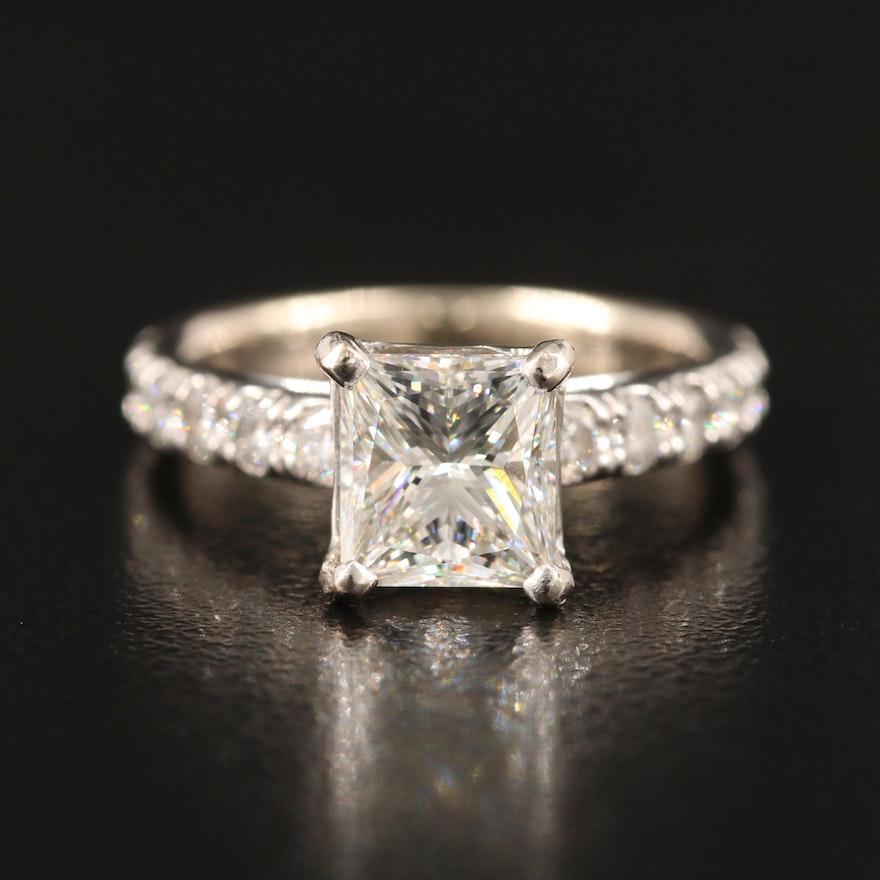 14K 1.98 CTW Diamond Ring with GIA Report