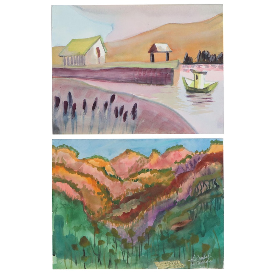 Kathleen Zimbicki Landscape Watercolor Paintings of Malta and Canada