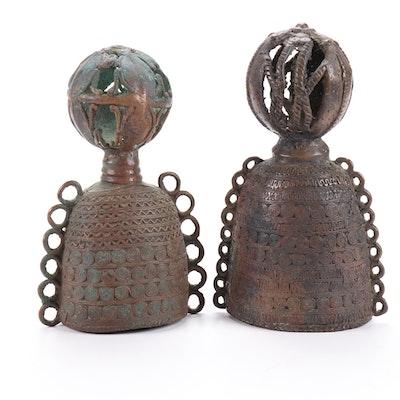West African (Nigeria) Bronze Hand Bells