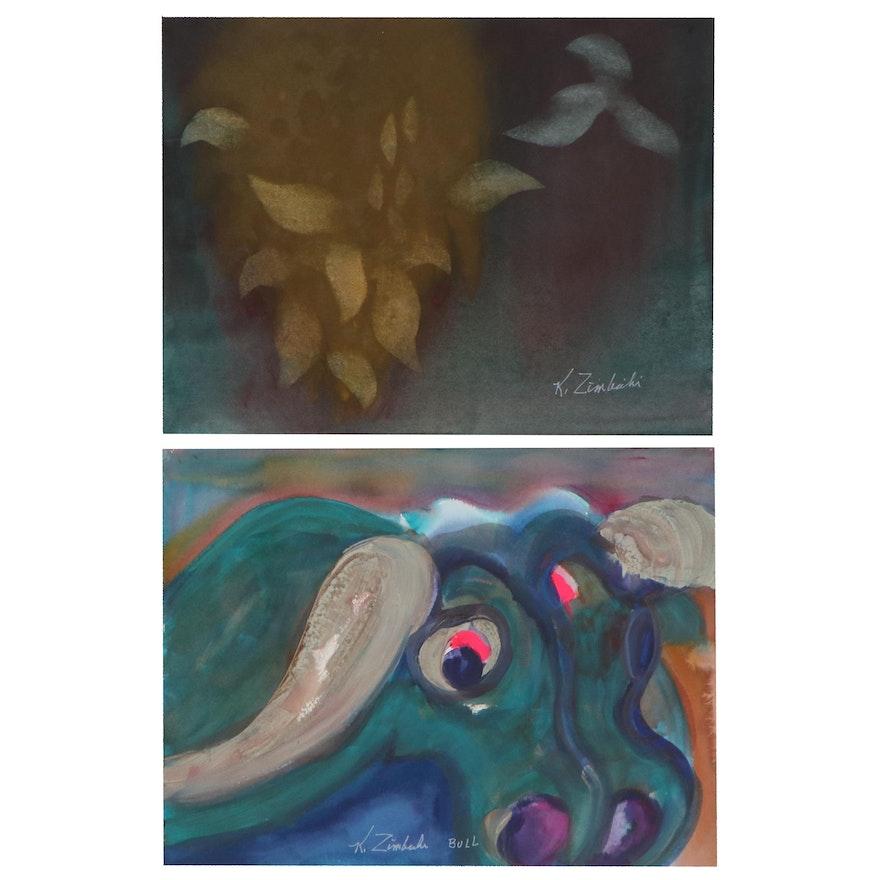 Kathleen Zimbicki Watercolor Painting and Mixed Media Painting