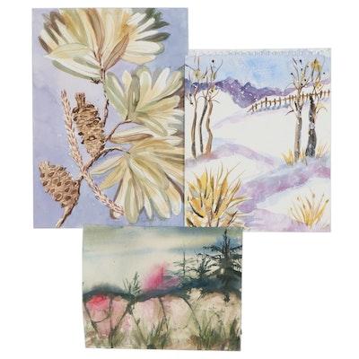 Kathleen Zimbicki Watercolors of Landscapes and Botanicals