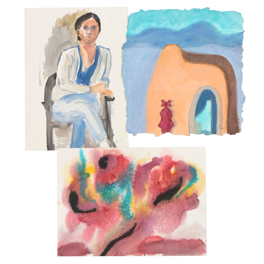 Kathleen Zimbicki Watercolor Paintings of New Mexico, Figure, and Abstract
