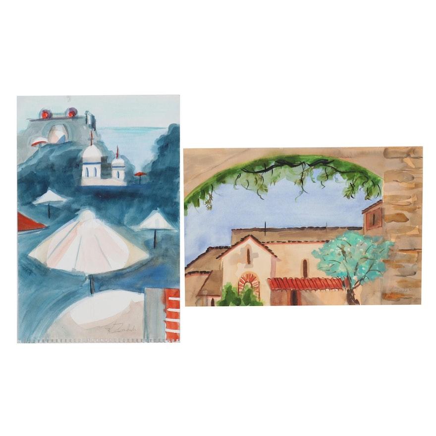 Kathleen Zimbicki Travel Watercolor Paintings