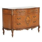Johnson Furniture Co. Louis XV Style Marquetry Chest, Mid to Late 20th Century