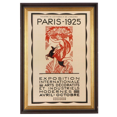 Art Deco Giclée after Robert Bonfils Paris Exposition Poster, Late 20th Century