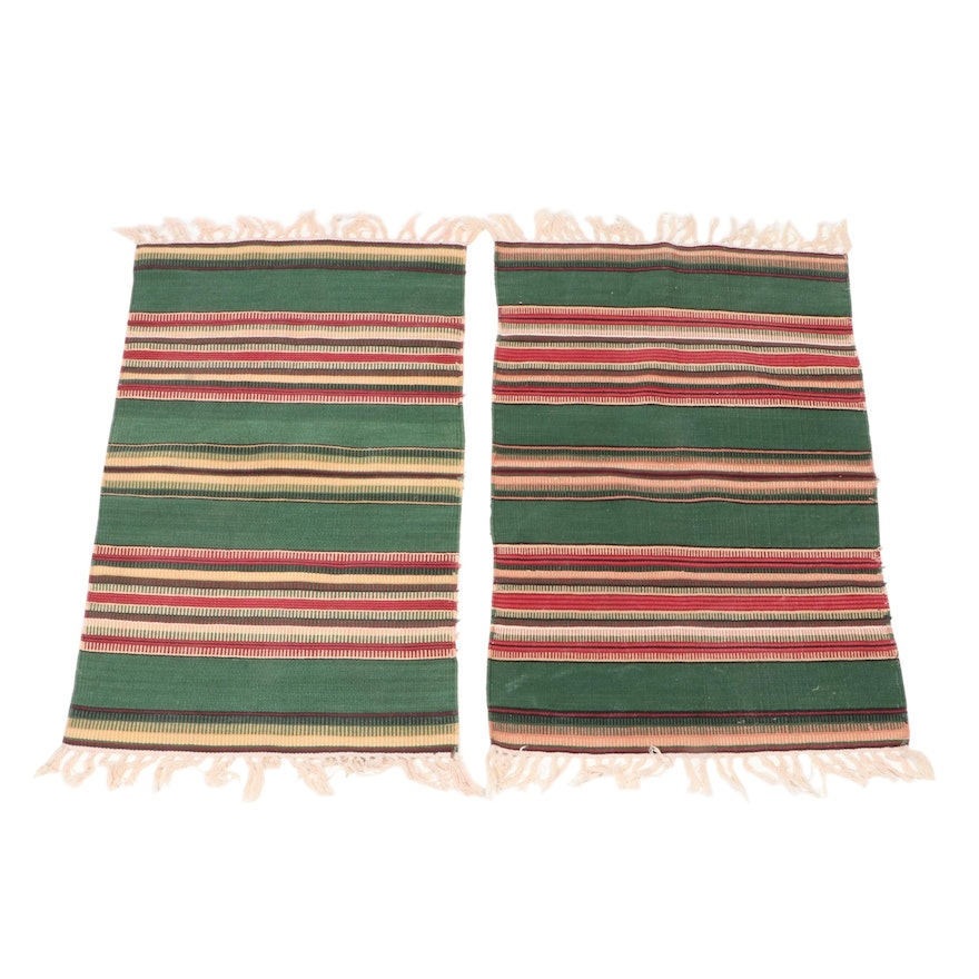 1'10 x 3'5 Handwoven Mexican Style Wool Accent Rugs