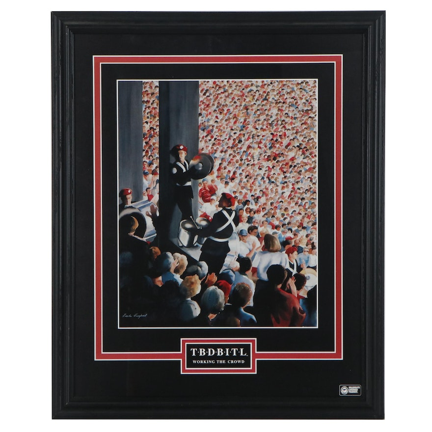 """Offset Lithograph after Linda Langhorst """"TBDBITL Working The Crowd"""""""