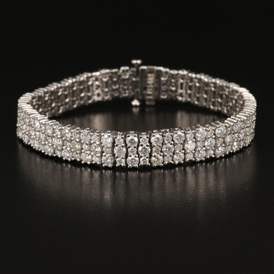 14K 10.92 CTW Diamond Triple-Row Bracelet