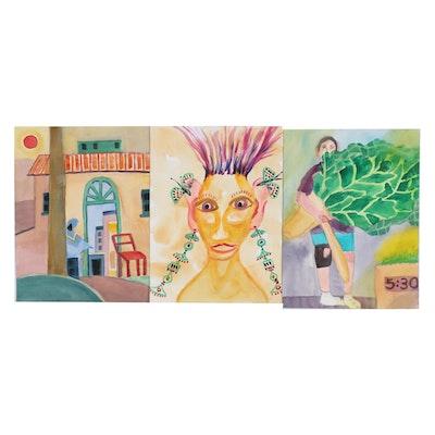Kathleen Zimbicki Watercolor Paintings, 21st Century
