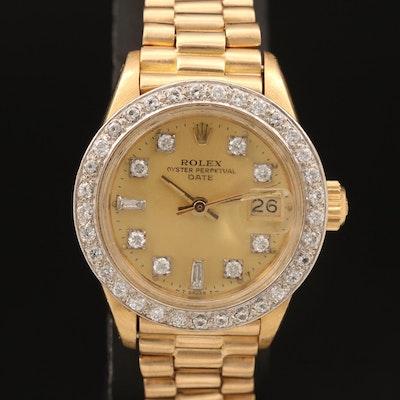 1978 Rolex Datejust 18K and Diamond Wristwatch