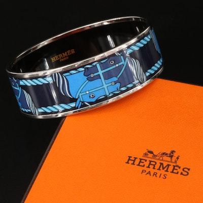 "Hermès ""Quadrige"" Enamel Bangle"