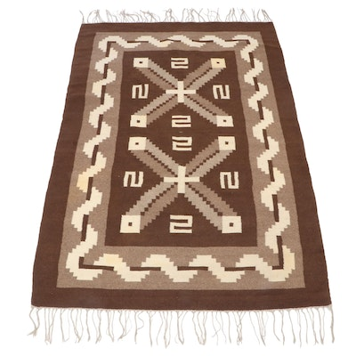 4'8 x 7'10 Handwoven Mexican Zapotec Style Wool Area Rug