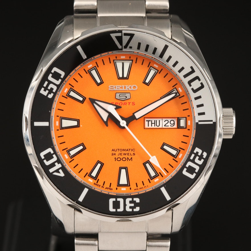Seiko 5 Sports SRPC55 Stainless Steel Automatic Wristwatch