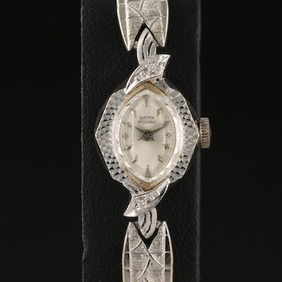 Lucien Piccard 14K Wristwatch with Diamond Accents