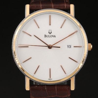 Bulova Classic Two-Tone Stainless Steel Quartz Wristwatch