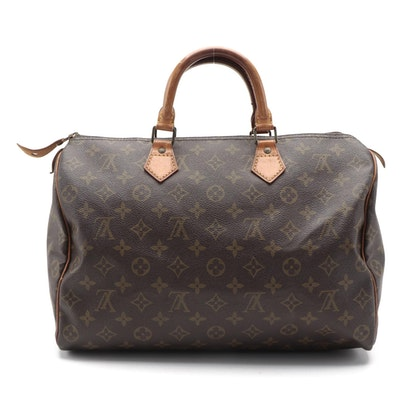 Louis Vuitton Speedy 35 in Monogram Canvas and Vachetta Leather