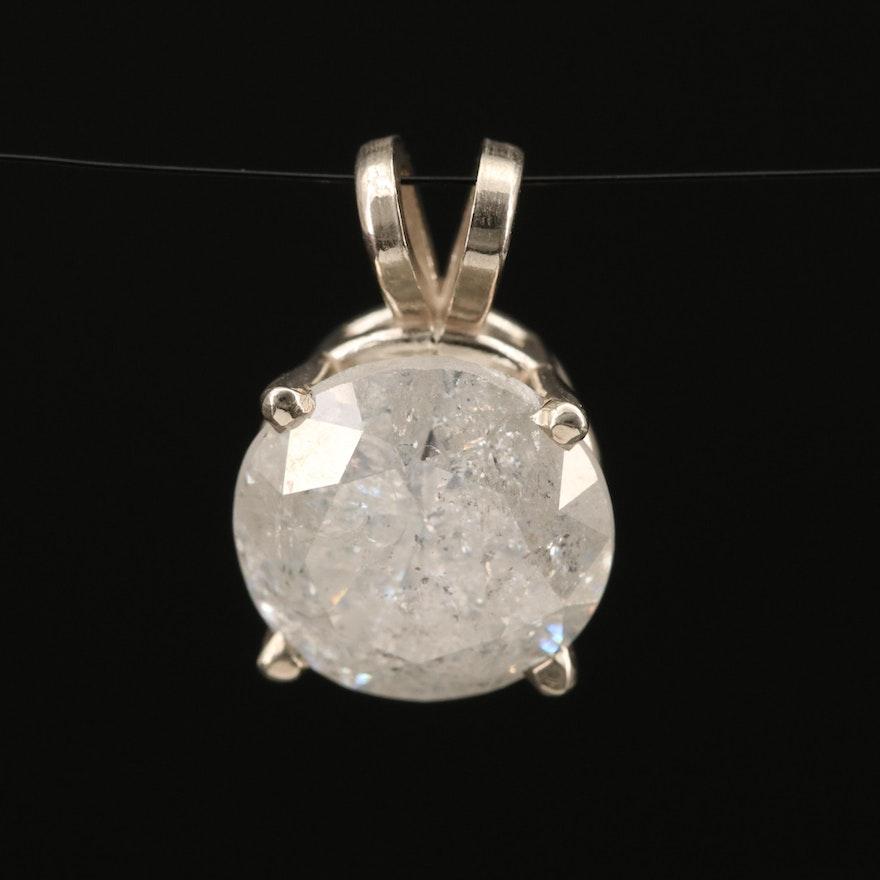 14K 5.13 CT Diamond Solitaire Pendant
