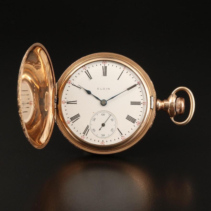 1907 Elgin Gold Filled Hunting Case Pocket Watch