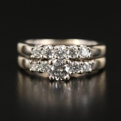14K 1.03 CTW Diamond Ring