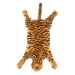 2'5 x 5 Hand-Tufted Indian Tiger Shaped Rug, 2010s