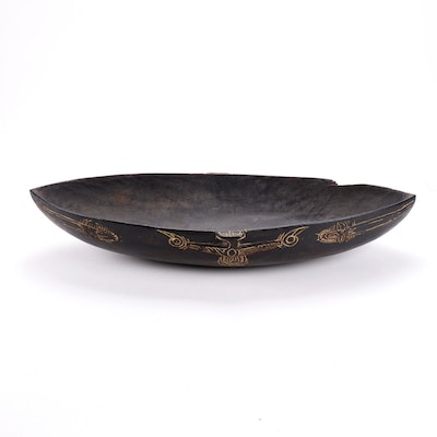 Huon Gulf Style Carved Wood Food Bowl, Papua New Guinea