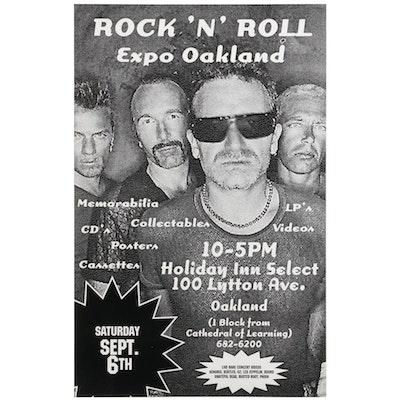 U2 Oakland Rock 'N' Roll Expo Poster