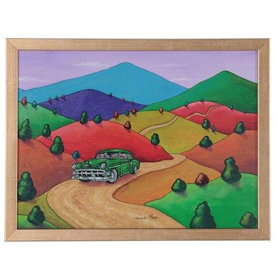 Ricardo Maya Landscape Acrylic Painting