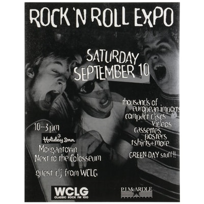 Green Day Pittsburgh Rock 'N' Roll Expo Poster