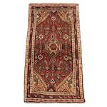 1'8 x 3'5 Hand-Knotted Persian Nahavand Rug, 1980s