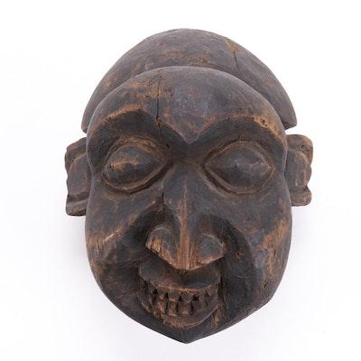 Bamun Carved Wood Helmet Mask, Cameroon