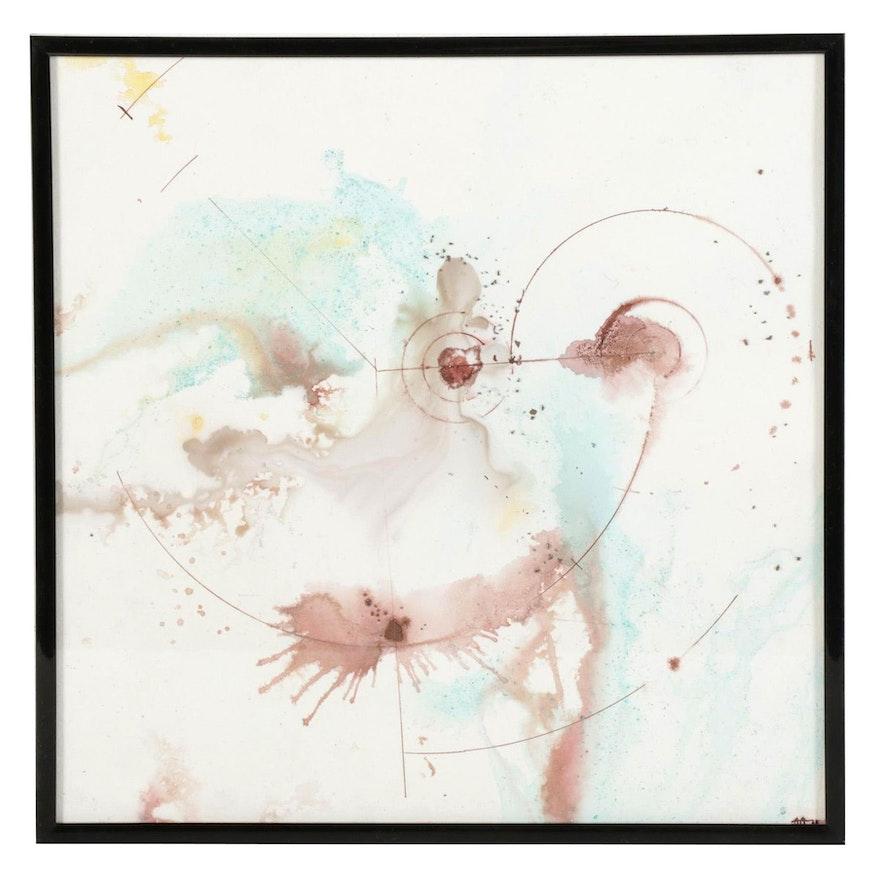 """Alberto Almarza Mixed Media Painting """"Planetary Events I,"""" 2021"""