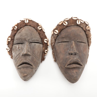 Dan Style Handcrafted Wood Masks, West Africa