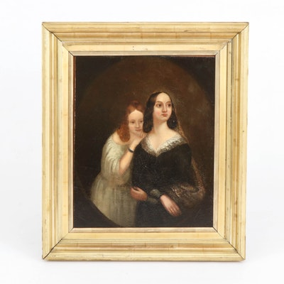 """Copy Oil Painting after William Powell Frith """"Portrait of Two Girls"""""""