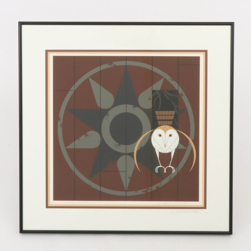 "Charley Harper Serigraph ""Hexit,"" 1980"
