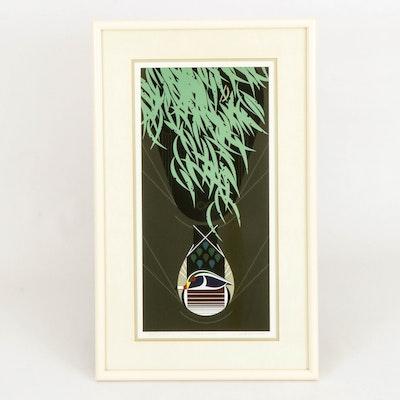 "Charley Harper Serigraph ""Tailgator,"" 1989"