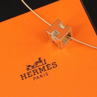 Hermès Cage d'H Necklace with Box