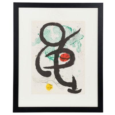 """Joan Miró Color Lithograph """"Danse Barbare"""" for """"Derrière le Miroir,"""" 1963"""