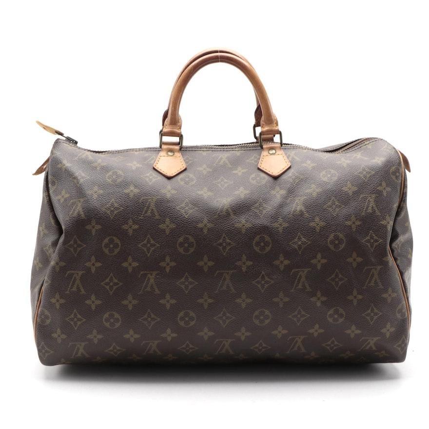 Louis Vuitton Speedy 40 Handbag in Monogram Canvas