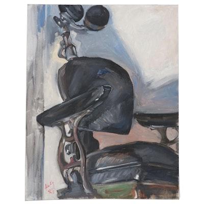 Kathleen Zimbicki Abstract Oil Painting, 1988