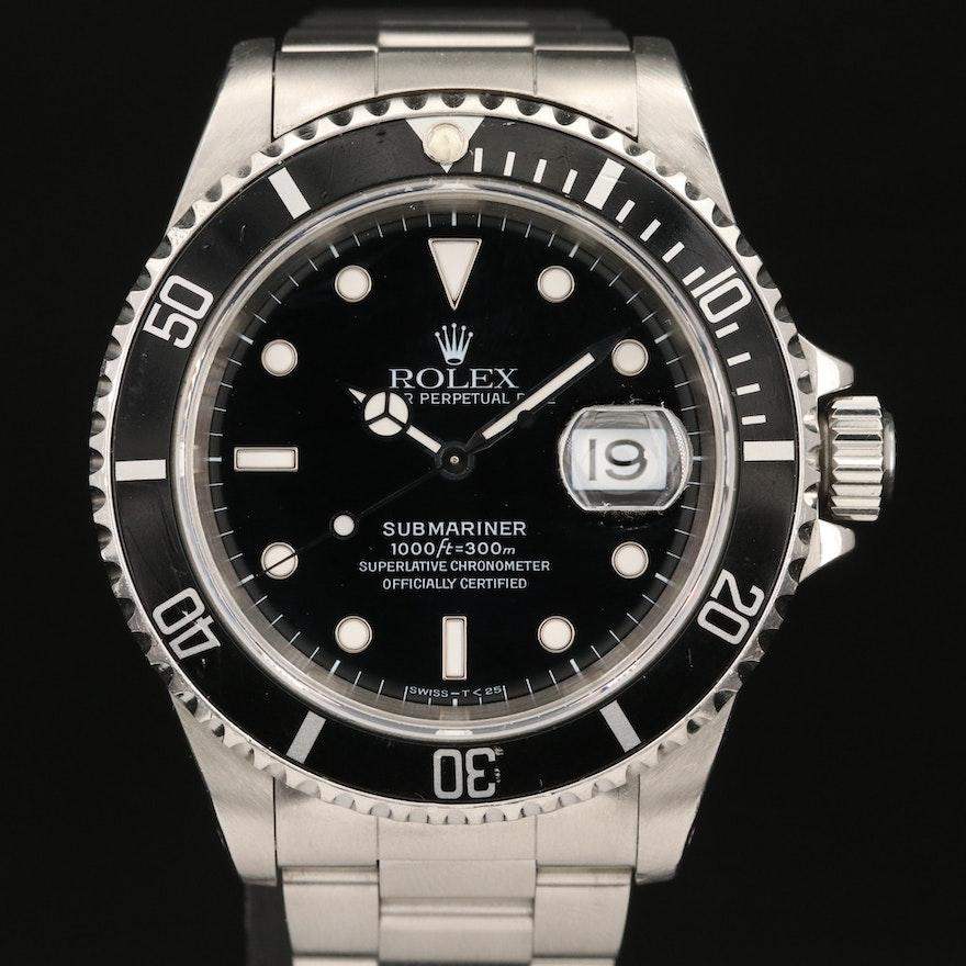 """1995 Rolex """"Submariner Black"""" Wristwatch"""
