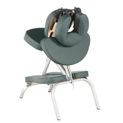 Earthlite Vortex Hunter Green Portable Massage Chair