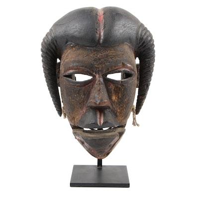 Ogoni Articulated Polychrome Wood Mask, West Africa