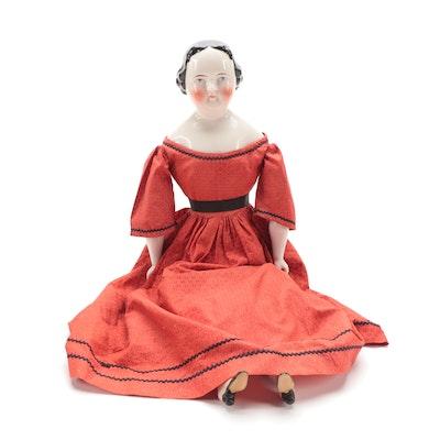 "Emma Clear ""Humpty Dumpty Doll Hospital"" Porcelain Doll, Early 20th Century"