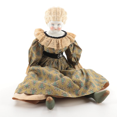 German Style Porcelain Doll, Early to Mid-20th Century