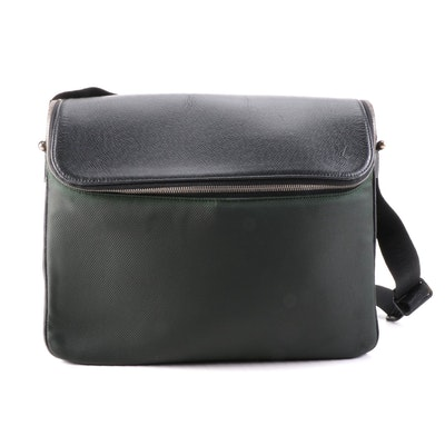 Louis Vuitton Taimyr Messenger Bag in Nylon Canvas and Taïga Leather