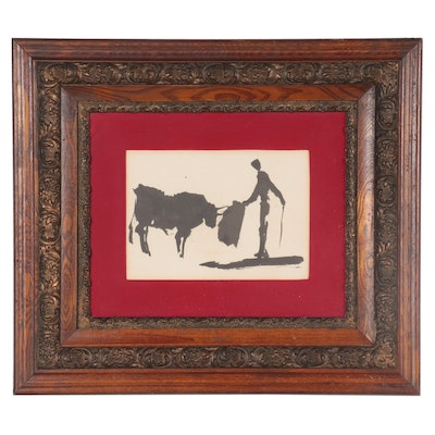 """Halftone after Pablo Picasso """"Toros y Toreros,"""" Mid-Late 20th Century"""