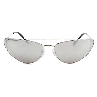 Prada SPR62V Mirrored Catwalk Sunglasses with Case and Box
